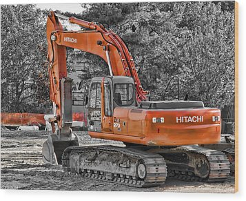 Hitachi Zaxis 270 Wood Print