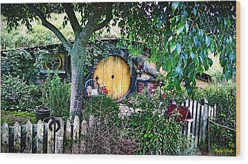 Hobbit Bungalow Wood Print