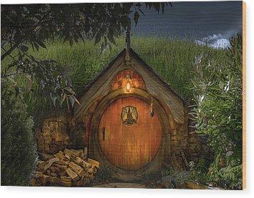 Hobbit Dwelling Wood Print