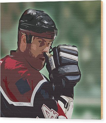 Hockey Illustration Wood Print by Lucas Armstrong