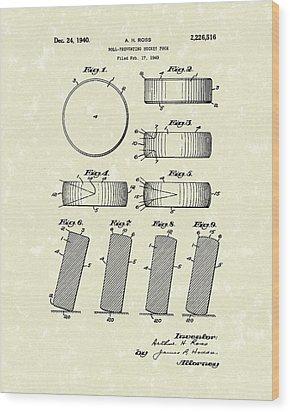 Hockey Puck Wood Print by Prior Art Design