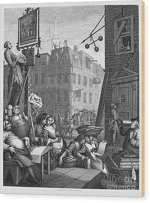 Hogarth: Beer Street Wood Print by Granger