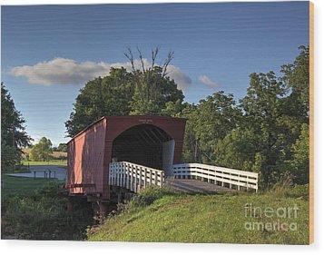 Roseman Covered Bridge Wood Print by Thomas Danilovich