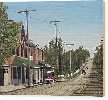 Hoggs Hollow Toronto 1920 Wood Print by Kenneth M  Kirsch