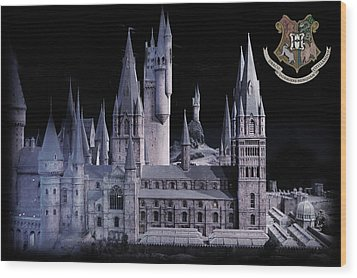 Wood Print featuring the mixed media Hogwards School  by Gina Dsgn