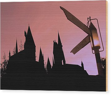 Wood Print featuring the photograph Hogwarts Castle by Juergen Weiss