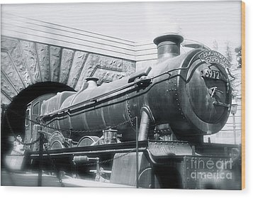 Hogwarts Express Black And White Wood Print