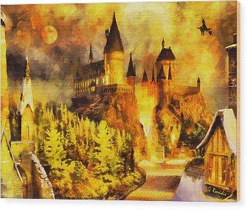 Hogwarts Wood Print by George Rossidis