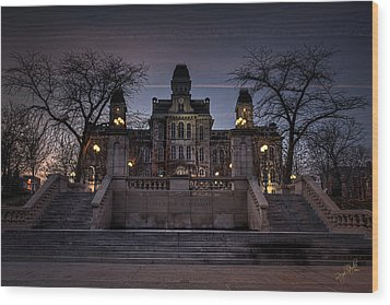 Hogwarts - Hall Of Languages Wood Print by Everet Regal