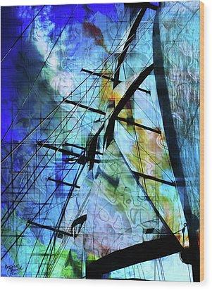 Hoist Wood Print by Monroe Snook