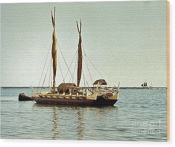 Hokulea - Voyaging Canoe Wood Print