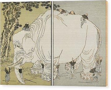 Hokusai: Elephant Wood Print by Granger