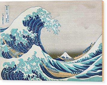 Hokusai Great Wave Off Kanagawa Wood Print by Katsushika Hokusai