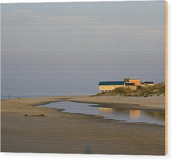 Wood Print featuring the photograph Holden Beach Reflections 1 by Alan Raasch