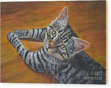 Holding Down The Floor Wood Print by Jana Baker