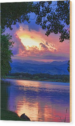Hole In The Sky Sunset Wood Print by James BO  Insogna