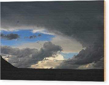 Hole In The Storm Wood Print by Gary Kaylor
