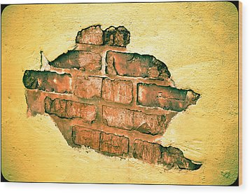 Hole In The Wall Wood Print by Keith Sanders