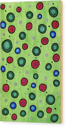 Holiday Abstract Wood Print by Mandy Shupp