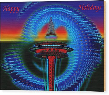 Holiday Needle 2 Wood Print by Tim Allen