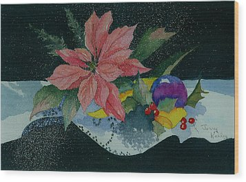 Holiday Poinsettia Wood Print