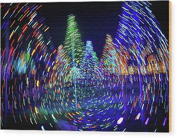 Holidays Aglow Wood Print by Rick Berk