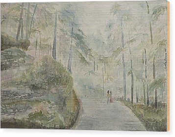 Wood Print featuring the painting Holidays In Shimla by Geeta Biswas
