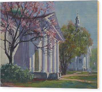 Hollis Social Library In Spring Wood Print