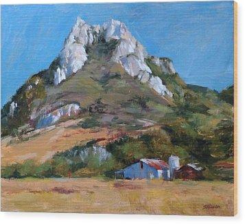 Hollister Peak Wood Print by Peter Salwen
