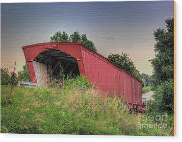 Holliwell Covered Bridge Wood Print