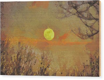 Wood Print featuring the mixed media Hollow's Eve by Trish Tritz
