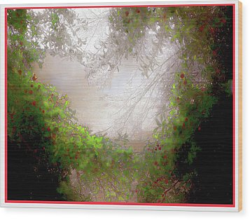 Wood Print featuring the photograph Holly Heart by Bonnie Willis