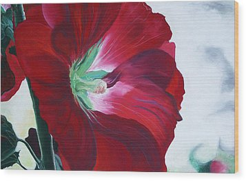 Hollyhock Wood Print