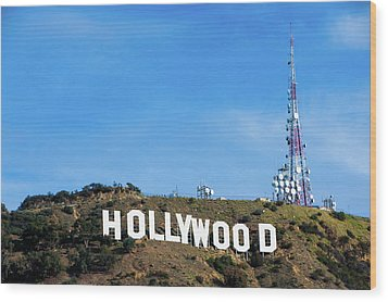 Wood Print featuring the photograph Hollywood Hills - Los Angeles California by Gregory Ballos