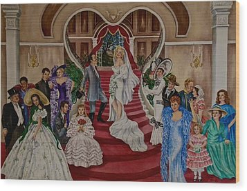 Hollywood Legends Wood Print by Jan Law