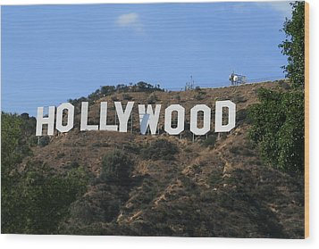 Hollywood Wood Print by Marna Edwards Flavell