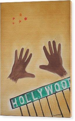 Hollywood Wood Print by Roger Cummiskey