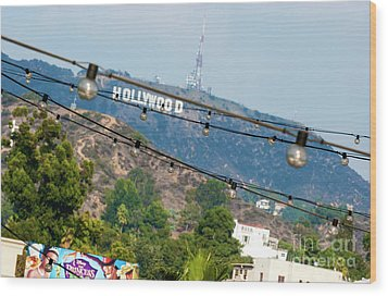 Wood Print featuring the photograph Hollywood Sign On The Hill 1 by Micah May