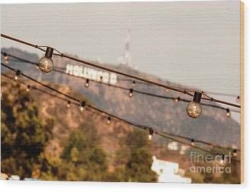 Wood Print featuring the photograph Hollywood Sign On The Hill 2 by Micah May