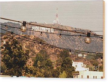 Wood Print featuring the photograph Hollywood Sign On The Hill 3 by Micah May