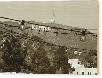 Wood Print featuring the photograph Hollywood Sign On The Hill 4 by Micah May
