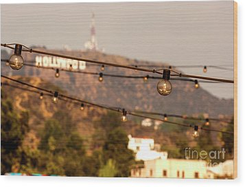 Wood Print featuring the photograph Hollywood Sign On The Hill 5 by Micah May