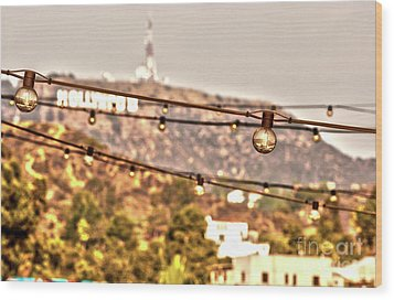 Wood Print featuring the photograph Hollywood Sign On The Hill 6 by Micah May