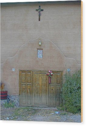Holy Door Wood Print by Joseph R Luciano