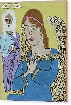 Holy Jesus Praise The Lord Wood Print by Betty  Roberts