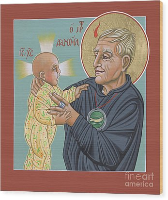 Wood Print featuring the painting Holy Prophet Daniel Berrigan 291 by William Hart McNichols