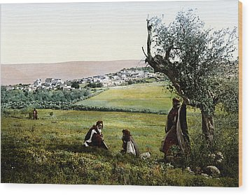 Holyland - Cana Of Galilee  Wood Print by Munir Alawi