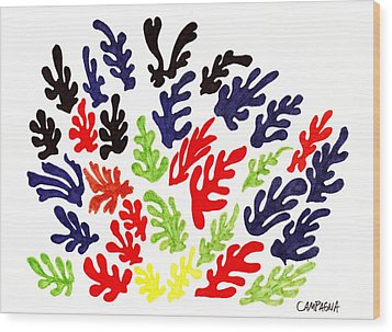 Homage To Matisse Wood Print by Teddy Campagna