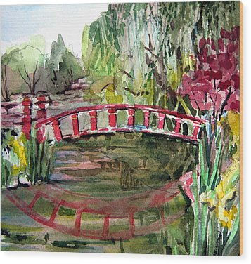 Homage To Monet Wood Print by Mindy Newman