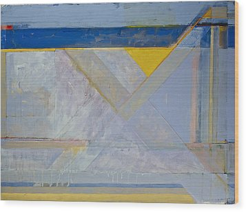 Homage To Richard Diebenkorn's Ocean Park Series  Wood Print